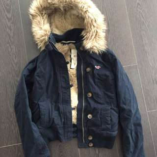 HOLLISTER JACKET - NAVY SIZE SMALL