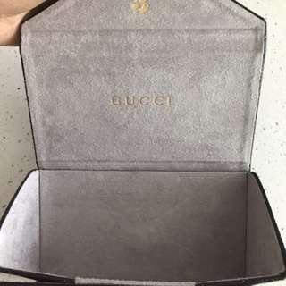 Gucci Sunglasses Leather Case Foldable