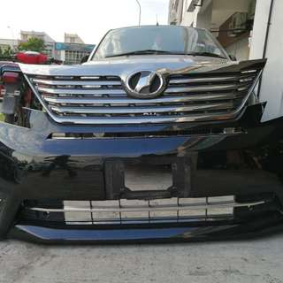 Vellfire 2010 Front Bumper with Grill & Spotlight Original