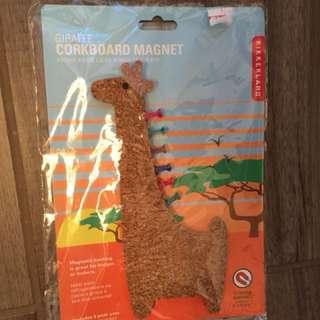 Giraffe cork board