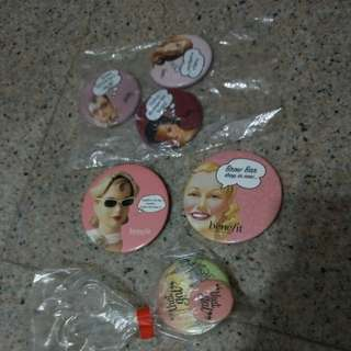 Benefit cosmetics badges collection