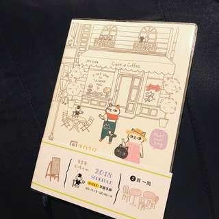 """包郵🐱全新台灣製 限定版 Joy Star""""來享受好時光吧""""正版2018年日記簿"""
