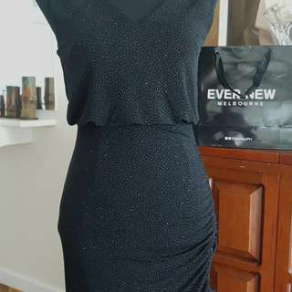 Evernew Black Sparkle Dress
