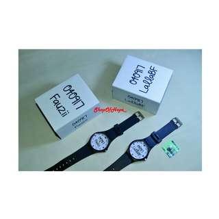 Jam tangan custom nama