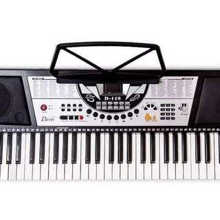 Electronic Keyboard piano Davis D-118 direct call 09978838075