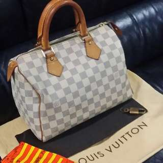 ⤵Price Auth Louis Vuitton Damier Azur Speedy 25
