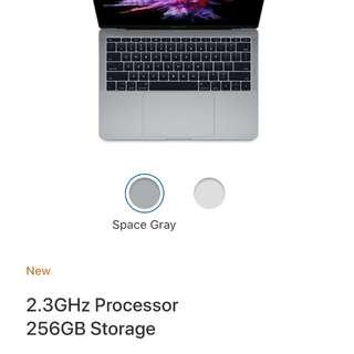 2017 Macbook Pro 13inch retina non touchbar
