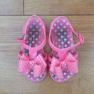 Pink polkadot sandal
