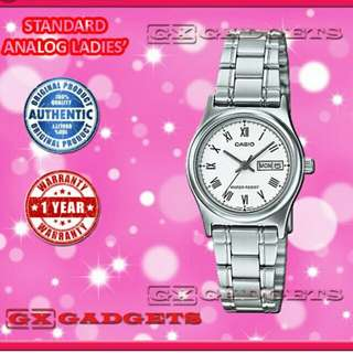🔮🔮🔮6折全新行貨卡西歐防水情侣行針日曆鋼錶-40% Off Brand New Original Casio Water Resistance Sweetheart Analog Daily Metal Watch