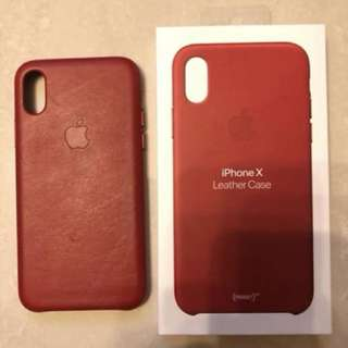 iPhone X Leather case - (PRODUCT) RED