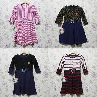 Dress Lengan Panjang 2-3th