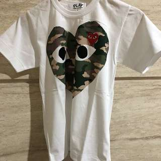 CDG Play Authentic Camouflaged Tee