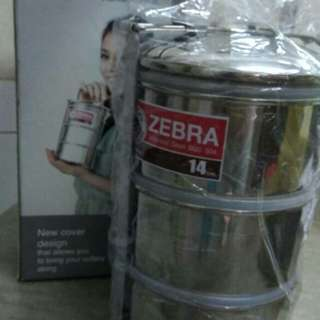 Zebra stainless stell food carrier 3tier
