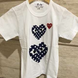 CDG Play Authentic Polkadot Tee