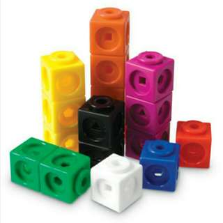 Brand New Learning Resources Mathlink Cubes, Set of 100
