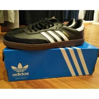Original ADIDAS SAMBA LEATHER BLACK/WHITE