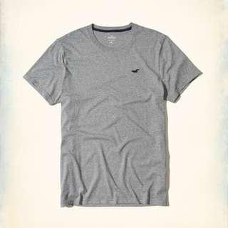衝評價 小麥代購全新XS/S/M/L號 Hollister hco海鷗 灰色基本款圓領T恤