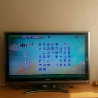 "Sharp 40"" TV with remote control"