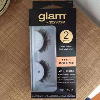 Glam full bodied eye lashes 21. Jessica 1 pair