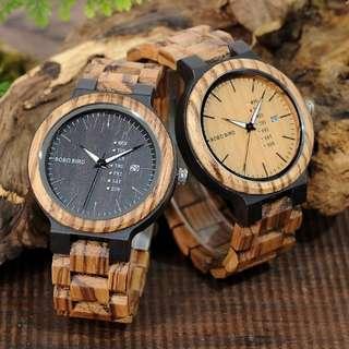 Special Promo Zebra Wooden Watch