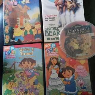 五套兒童DVD