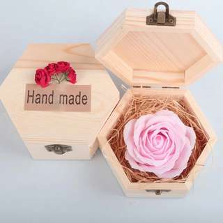 Rose Flower Soap - Hexagon / Heart Shaped Box (Valentine / Friend / Gift)