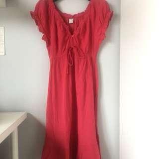 Casual midi dress pink