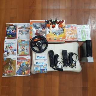 Wii console, Wii Fit, Wii games