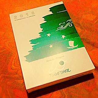 Starbucks 2018 GREEN PLANNER SMALL and leather cover ONLY