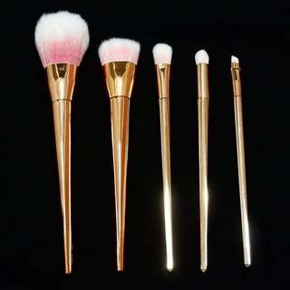 Gold 5 pc Make Up Brush Set