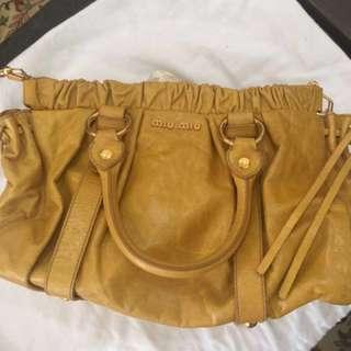 Miu Miu Handbag in Mustard