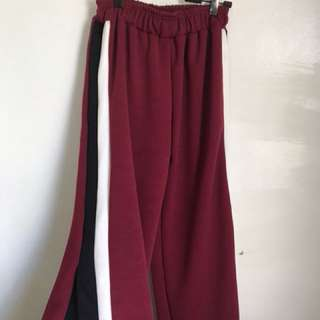 Sale: Track pants with slit (red)