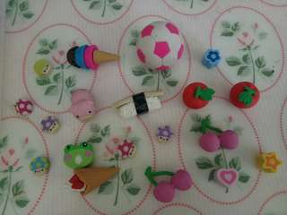 ASSORTED NOVELTY ERASERS