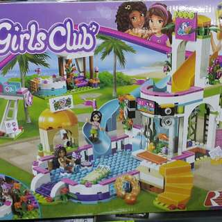 Lego Friends Like Pool Resort By Lepin