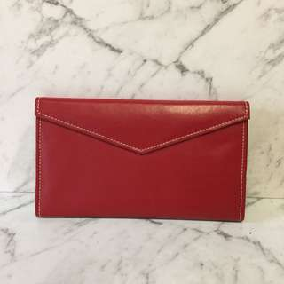 Genuine split leather passport wallet