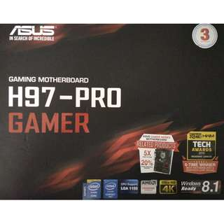 ASUS H97-PRO GAMER 1150 SOCKET MOTHERBOARD