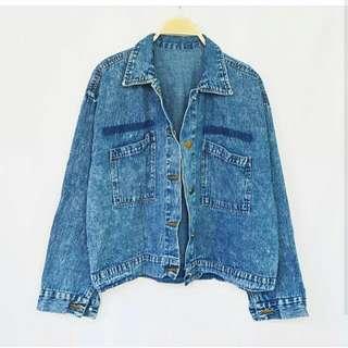 Jaket jeans acid