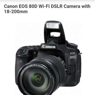 Canon EOS 80D Wi-Fi DSLR Camera With 18-200mm Kredit