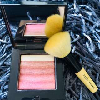 BOBBI BROWN Shimmer Brick Compact/Rose with Face Brush