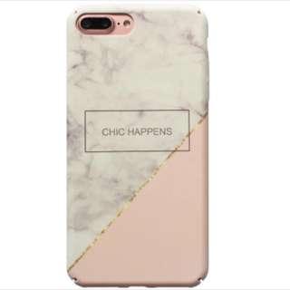 iPhone 6/6s 白拼粉 雲石 電話殻