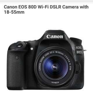 Canon EOS 80D Kit 18-55mm Kredit Kamera