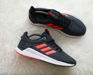Sepatu Adidas Questar Ride Black Logo Orange Original BNWB