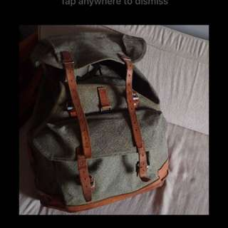 Vintage Swiss Army Salt and Pepper Backpack, 1972
