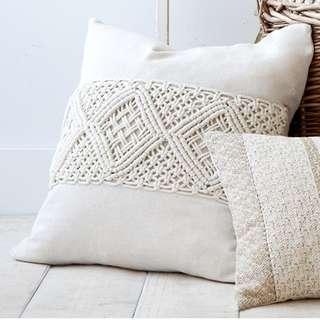 Handmade macrame cushion 45cm x 45cm
