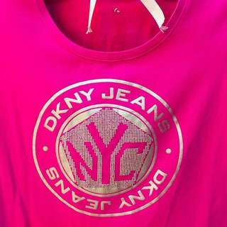 Price reduced%DKNY Jeans Pink Tee