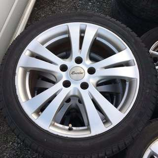 "17""Reverline rims with pirelli tires japan🇯🇵"