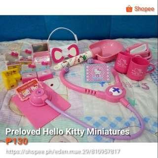Hello Kitty Toys and Miniature Set
