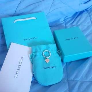 Tiffany&Co. 玫瑰金愛心純銀戒指 真品
