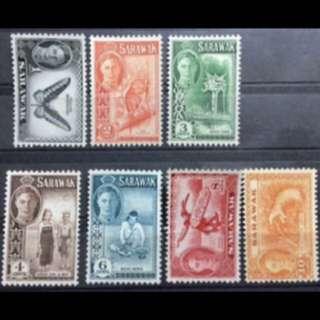 Malaya Sarawak stamps 6v unmounted mint fresh gum