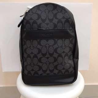 Authentic Coach men backpack sling bag crossbody bag